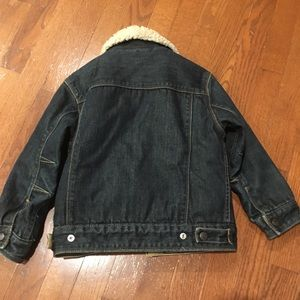 GAP Jackets & Coats - Gap Kids Sherpa Denim Jacket Size XS (4-5)